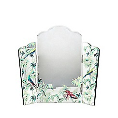 Butterfly Home by Matthew Williamson - Green jungle bird print dressing table mirror