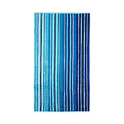 Butterfly Home by Matthew Williamson - Blue striped print beach towel