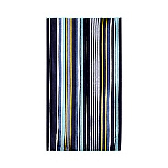J by Jasper Conran - Navy striped print towel