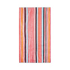 J by Jasper Conran - Pink striped print beach towel
