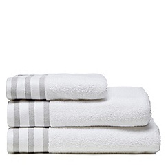 J by Jasper Conran - White striped header towel