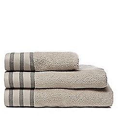 J by Jasper Conran - Taupe textured header towel