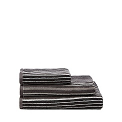 J by Jasper Conran - Grey striped towel