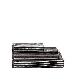 J by Jasper Conran - Grey striped towel
