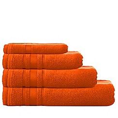 Home Collection Basics - Orange 'Zero Twist' cotton towels