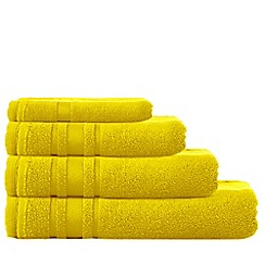 Home Collection Basics - Yellow 'Zero Twist' cotton towels