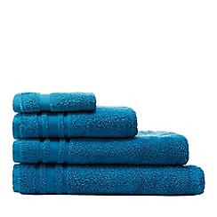 Home Collection Basics - Bright blue 'Zero Twist' cotton towels
