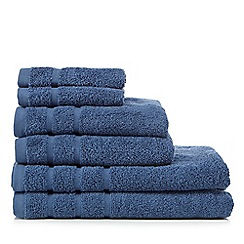 Home Collection Basics - Dark blue super-soft cotton towel bale