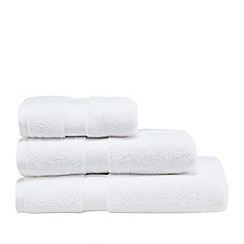 J by Jasper Conran - White 'Zero Twist' cotton towel