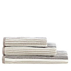 Christy - Natural Oxford stripe towel