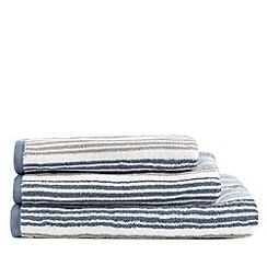 Christy - White Oxford stripe towel