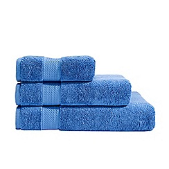 Christy - Blue Hygro cotton towel