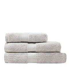J by Jasper Conran - Silver 'Zero Twist' cotton towel