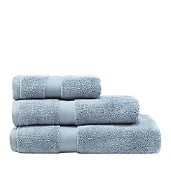 J by Jasper Conran - Blue grey 'Zero Twist' cotton towel