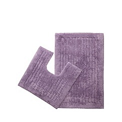 Christy - Mauve bath mat and pedestal mat set