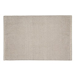 Debenhams - Taupe bobble bath mat