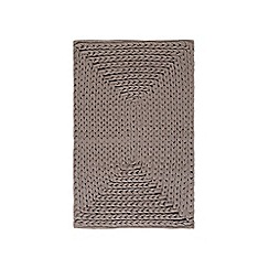RJR.John Rocha - Dark grey plaited bath mat
