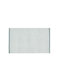 Debenhams - Aqua woven striped bath mat