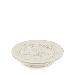 Home Collection - White Paris motif soap dish