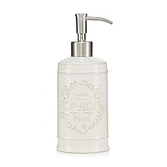 Home Collection - White Paris motif soap dispenser