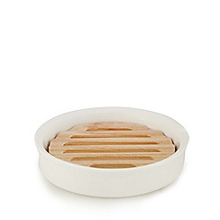 J by Jasper Conran - White ceramic soap dish