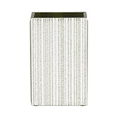 Star by Julien Macdonald - Silver glitter glass toothbrush holder