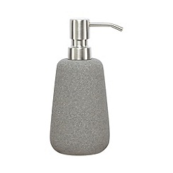 RJR.John Rocha - Grey stone soap dispenser