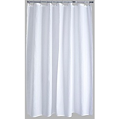 Home Collection Basics - Plain white polyester shower curtain