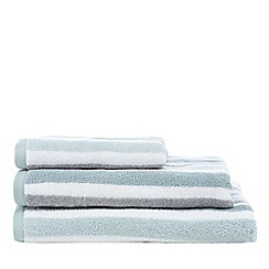 Debenhams - Aqua cotton striped print towel