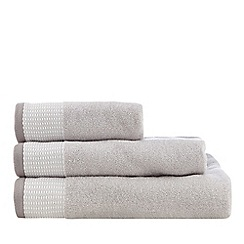 J by Jasper Conran - Silver Salcombe towels