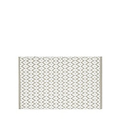 Debenhams - Taupe diamond print bath mat