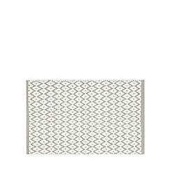 Debenhams - Silver diamond print bath mat