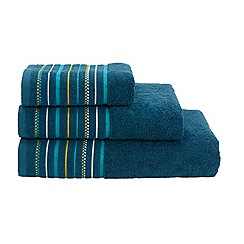 Christy - Bright blue Pimlico cotton towel