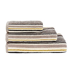 Christy - Natural Noho striped cotton towel