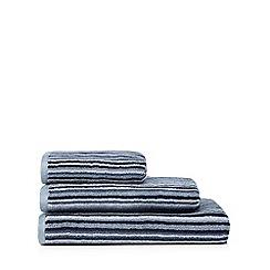 J by Jasper Conran - Blue striped towel