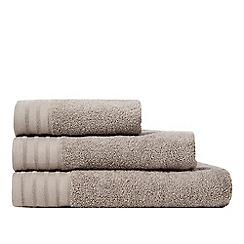 J by Jasper Conran - Taupe zero twist towel