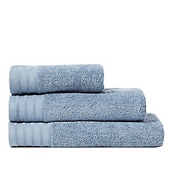J by Jasper Conran - Blue zero twist towel