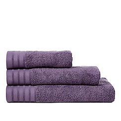 J by Jasper Conran - Purple zero twist towel
