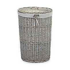 Home Collection - Grey wicker laundry basket