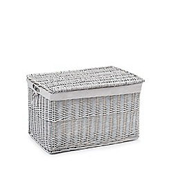 Debenhams - Grey large wicker trunk