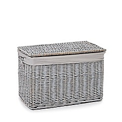 Debenhams - Grey small wicker trunk