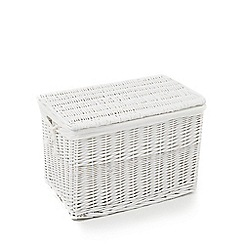 Home Collection - White wicker trunk