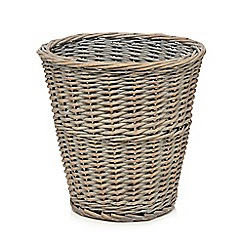 Home Collection - Grey wicker waste basket