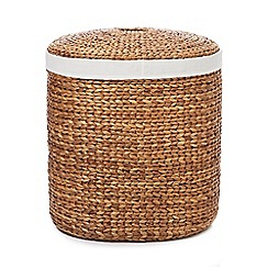 RJR.John Rocha - Natural hyacinth wicker oval laundry basket