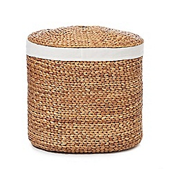 RJR.John Rocha - Natural oval hyacinth wicker laundry bin
