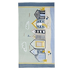 Home Collection - Blue beach hut print beach towel