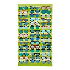 Ben de Lisi Home - Green sunglasses beach towel