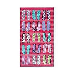 Ben de Lisi Home - Pink flip flop print beach towel