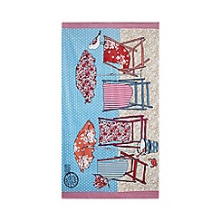 At home with Ashley Thomas - Pink deck chair print beach towel