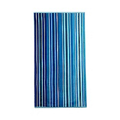 Home Collection - Blue stripe print beach towel